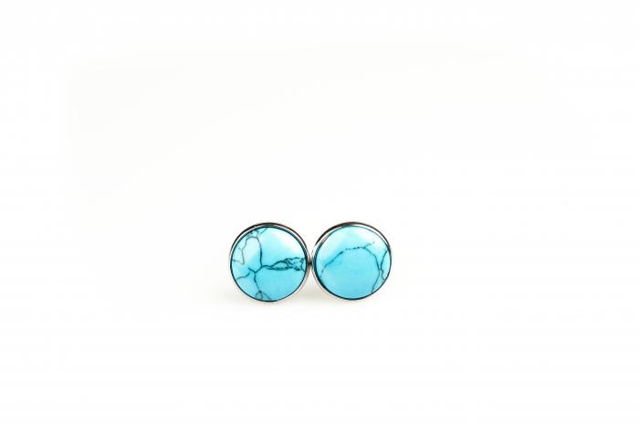Butoni rotunzi albastri [0]