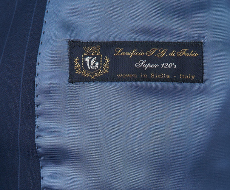 Costum barbati bleumarin din lana [1]