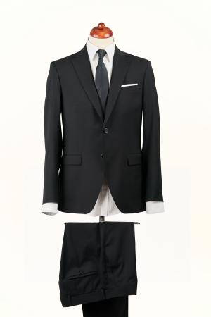 Costum barbati negru din lana [0]