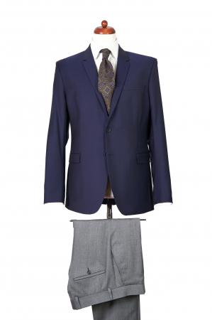 Pantaloni slim din lana gri [1]
