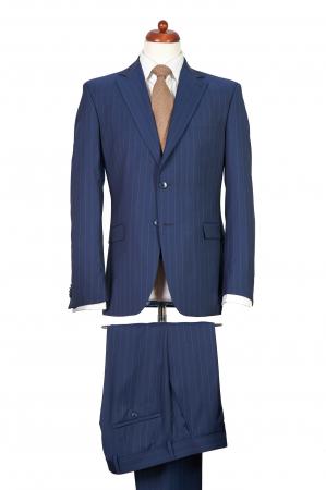 Costum barbati bleumarin din lana [0]
