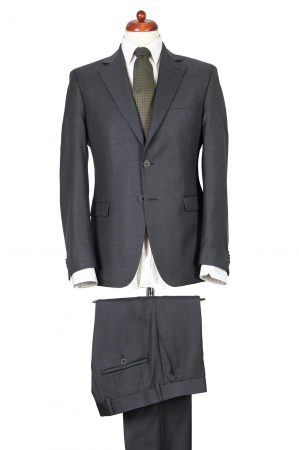 Costum barbati gri din lana [0]