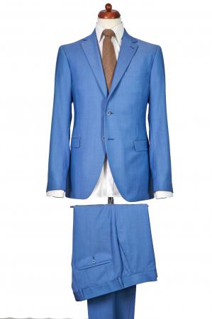 Costum barbati bleu din lana [0]