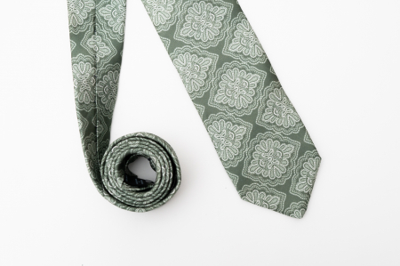 Cravată handmade mătase verde [0]