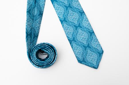 Cravată handmade mătase model medalion [0]