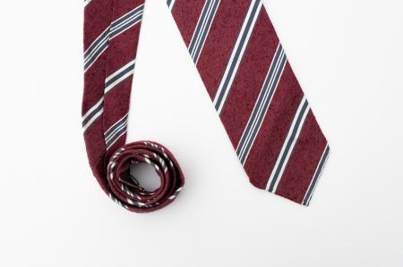 Cravată handmade mătase visinie [0]