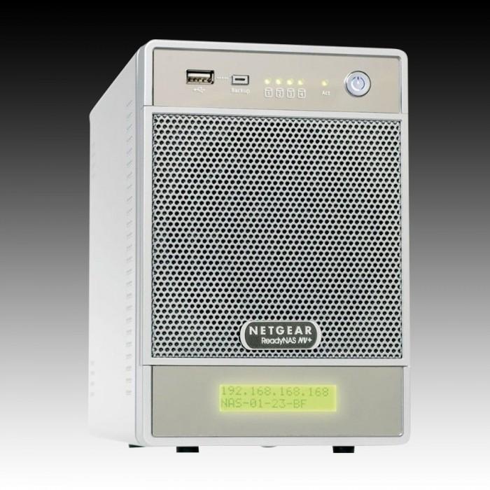 NAS NETGEAR RND4000-100EUS (supported 4 HDD, GLAN, Power Adapter, Desktop, Serial ATA II-300, Level 0, 1, 5) [0]