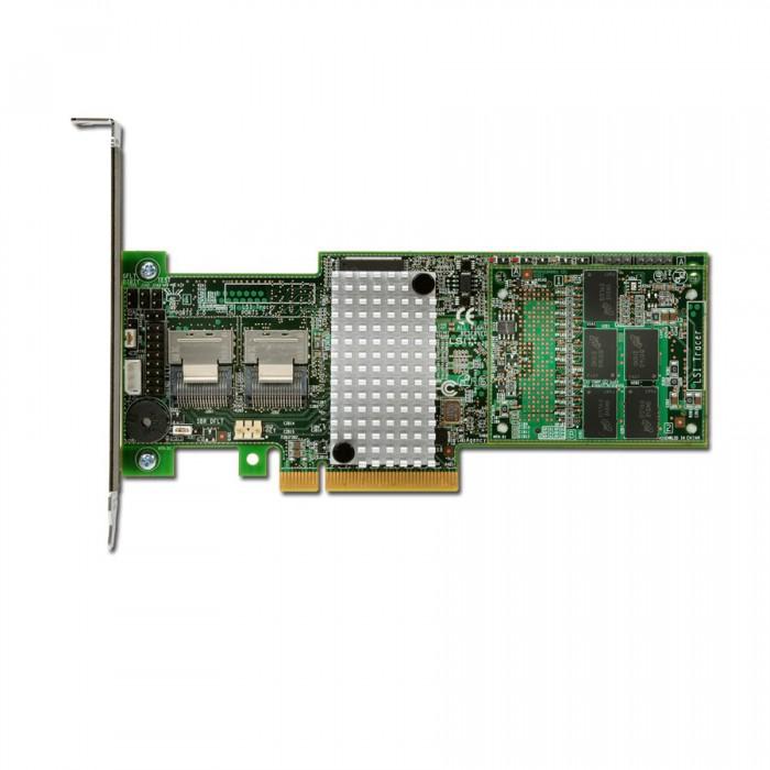 Intel RAID Controller RS25DB080 (8ch Internal LSI SAS2208 ROC, 6Gb/s up to 128 SAS/SATA/SSD, PCI-E 2.0 X8, 1GB DDR3, optional AXXRSBBU9, RAID 0,1,5,6,10,50,60, 2 ports 1xMini-SAS SFF-8087, LP bracket  [1]
