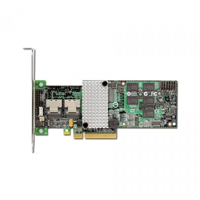 Intel RAID Controller RT3WB080 (8ch Internal LSI SAS2108 ROC, 6Gb/s up to 32 SATA, PCI-E 2.0 X8, 256MB DDR2, optional AXXRSBBU7 or AXXRSBBU8, RAID 0,1,5,6,10,50,60, 2 cables 1xMini-SAS SFF-8087 to 4x  [1]