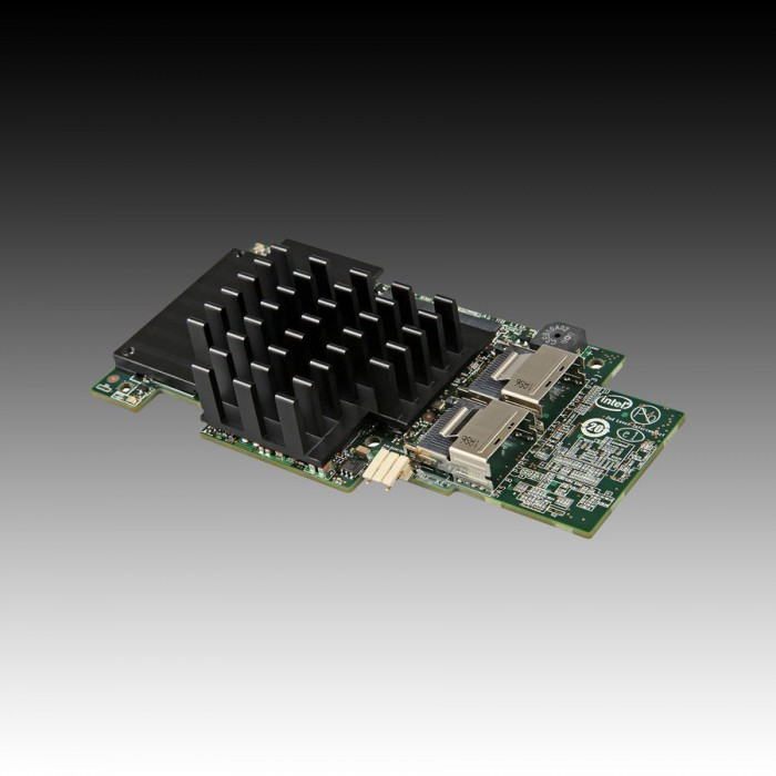 Intel Integrated RAID Module RMS25CB080 (LSI2208 ROC, Storage IO Module, 8Port Internal SAS/SATA, 1GB DDR3, RAID 0,1,10,5,50,6,60, support for RSBBU9 or RMFBU2, no cables), Single [0]