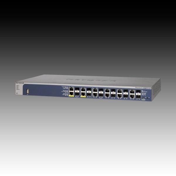 Switch NETGEAR GSM7212F (12 x Gigabit Ethernet/Fast Ethernet/Ethernet, 12 SFP Slots, Rackmount, DHCP Client Built-in, DHCP Server Built-in, Radius/TACACS+) Retail 0