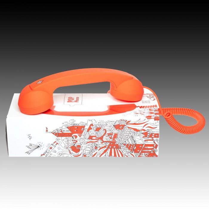 NATIVE UNION RETRO HANDSET - POP PHONE, Orange, Retail [1]