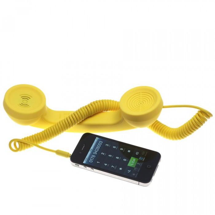 NATIVE UNION |{English}RETRO HANDSET - POP PHONE{English}{Russian}RETRO гарнитура - POP PHONE{Russian}|, Yellow, Retail () [0]