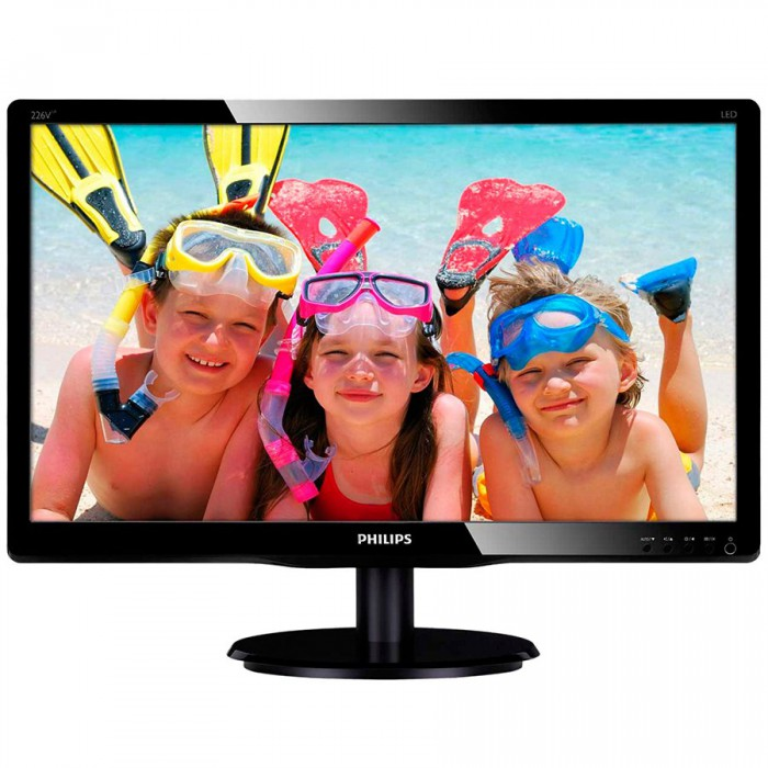 "Monitor LCD PHILIPS 226V4LAB/00 (21.5"""", 1920x1080, LED Backlight, 1000:1, 10000000:1(DCR), 170/160, 5ms, DVI/VGA/Audio) Black 0"