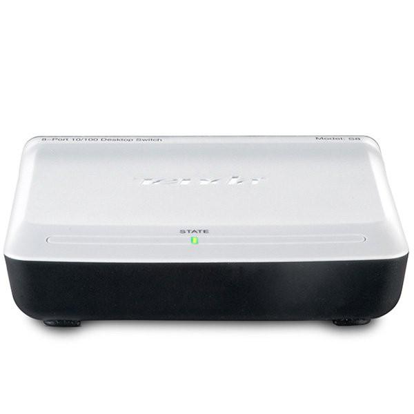 8-Port Mini Fast Ethernet Switch,Desktop Plastic Case,IEEE802.3, IEEE802.3u, RJ45, Auto-MDI/MDIX [0]