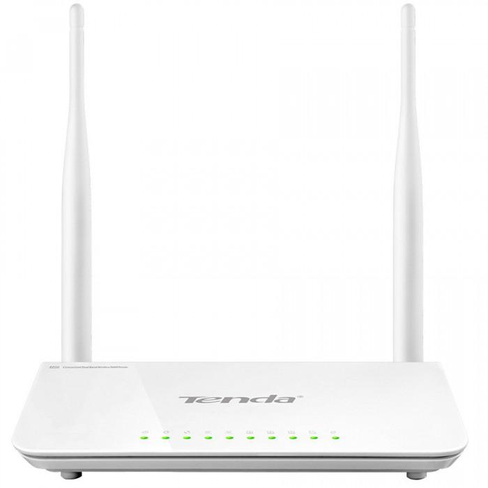 Dual-Band 2T2R 11N Router, 4 Gigabit LAN Port, 1 Gigabit WAN Port, 1 USB Port For Storage and Printing Server, 2x5dBi  Antennas [0]