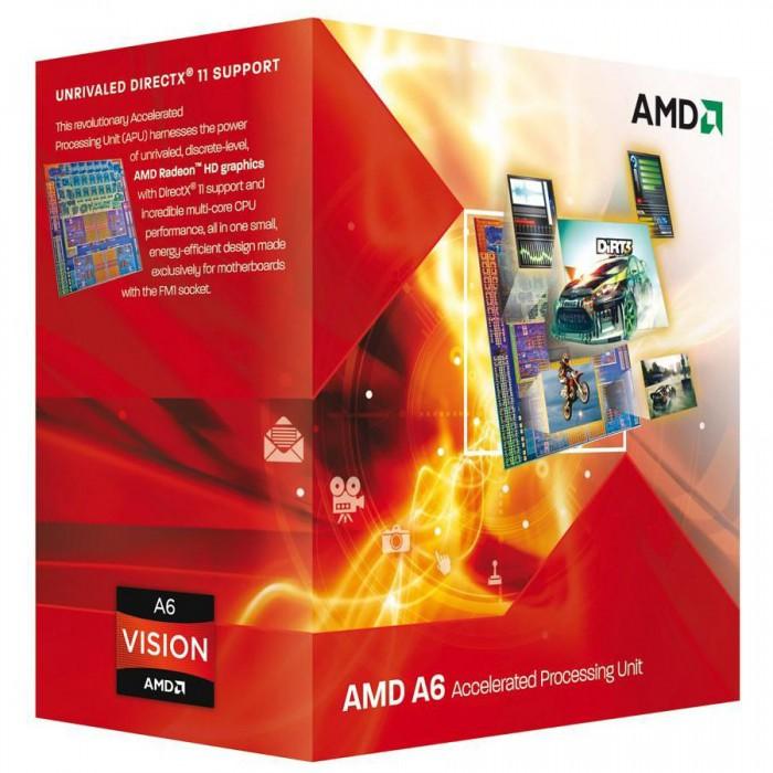 AMD CPU Richland A6-Series X2 6400K (3.9GHz,1MB,65W,FM2) box, Black Edition, Radeon TM HD 8470D [0]
