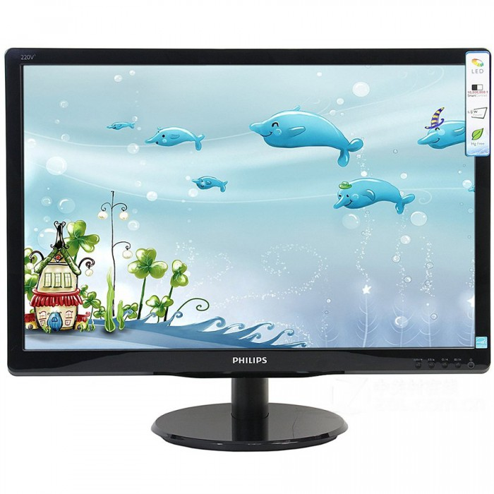 "Monitor LED PHILIPS 193V5LSB2/10 (18.5"", 1366x768, 800:1, 10000000:1(DCR), 90/65, 5ms, VGA) Black 0"