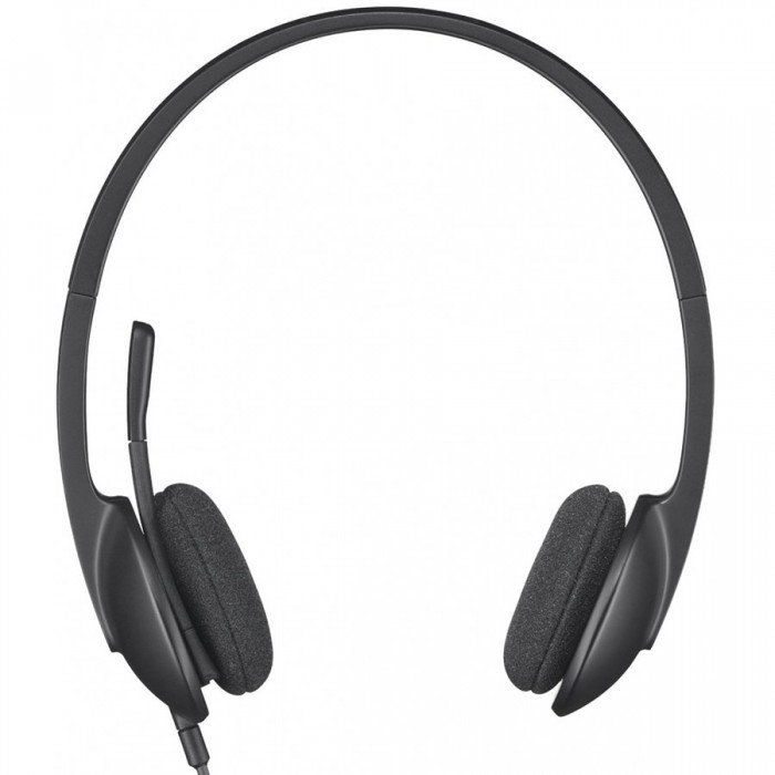 981-000475 Logitech USB Headset H340 (Headset: 20 Hz - 20 kHz, Microphone: 100 Hz - 10 kHz, 1.8m) 0