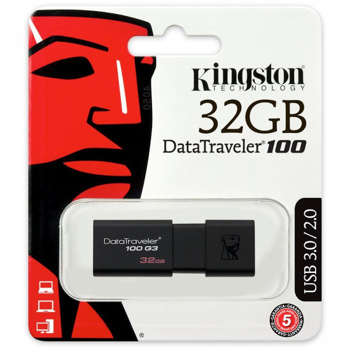 Kingston 32GB USB 3.0 DataTraveler 100 G3 1