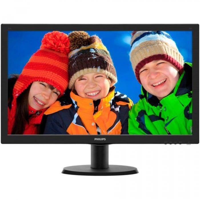 "Monitor LCD PHILIPS 243V5LHAB/00 (23.6"""", 1920x1080, LED Backlight, 1000:1, 10000000:1(DCR), 170/160, 5ms, HDMI/DVI/VGA/Audio) Black 0"