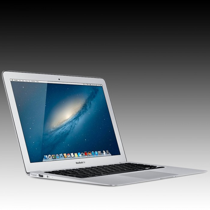Apple MacBook Air 13.3-inch  Model: A1466, 1.3GHz dual-core Intel Core i5 processor Turbo Boost up to 2.6GHz, Intel HD Graphics 5000, 4GB memory, 128GB flash storage [1]