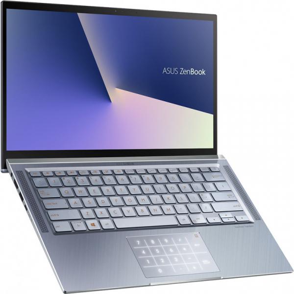 Laptop ultraportabilASUS 14'' ZenBook 14 UX431FL, Full HD, Procesor Intel® Core™ i5-10210U (6M Cache, up to 4.20 GHz), Memorie 8GB, 512GB SSD, GeForce MX250 2GB, Utopia BlueMetal, Licenta Windows 10 0