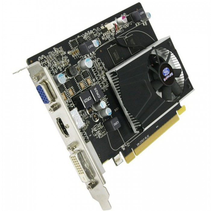 VC SAPPHIRE AMD Radeon R7 240 1G GDDR5 PCI-E HDMI / DVI-D / VGA WITH BOOST, 730MHz (780MHz) / 1150Hz, 128-bit, 1 slot active, , LITE 3