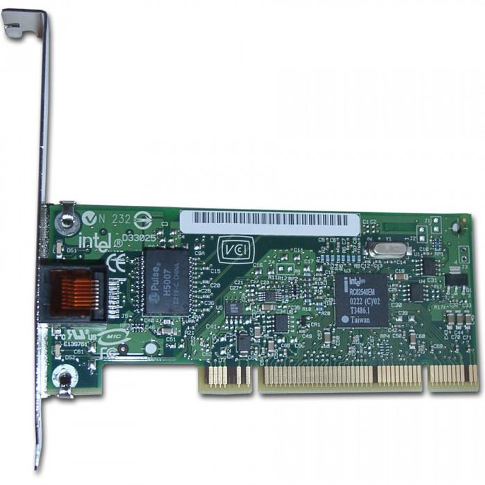INTEL PRO/1000 GT Desktop Adapter Network Adapter (10Base-T/100Base-TX/1000Base-T, 1000Mbps, Bulk, Gigabit Ethernet/Fast Ethernet/Ethernet, PCI) [0]