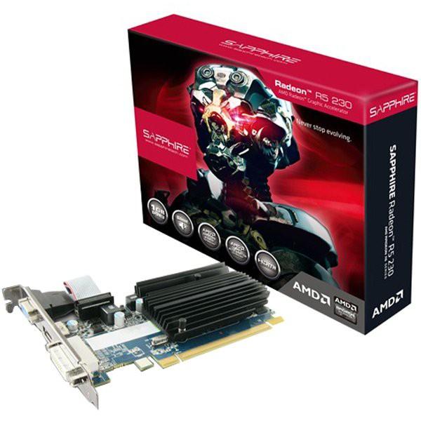 VC SAPPHIRE AMD Radeon R5 230 1G DDR3 PCI-E HDMI / DVI-D / VGA, 625MHz / 667MHz, 64-bit, 1 slot passive, LITE 1