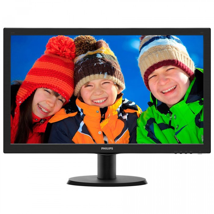 "Monitor LCD PHILIPS 243V5LSB/00 (23.6"""", 1920x1080, LED Backlight, 1000:1, 10000000:1(DCR), 170/160, 5ms, DVI/VGA) Black 0"
