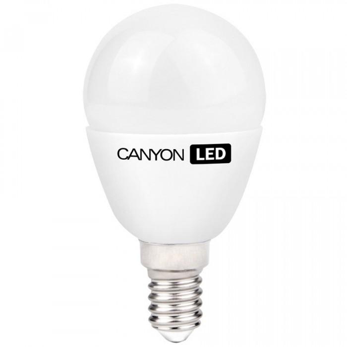CANYON PE14FR6W230VW LED lamp, P45 shape, Frosted, E14, 6W, 220-240V, 150°, 470 lm, 2700K, Ra>80, 50000 h [0]
