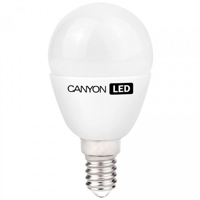 CANYON PE14FR3.3W230VW LED lamp, P45 shape, Frosted, E14, 3.3W, 220-240V, 150°, 250 lm, 2700K, Ra>80, 50000 h [0]