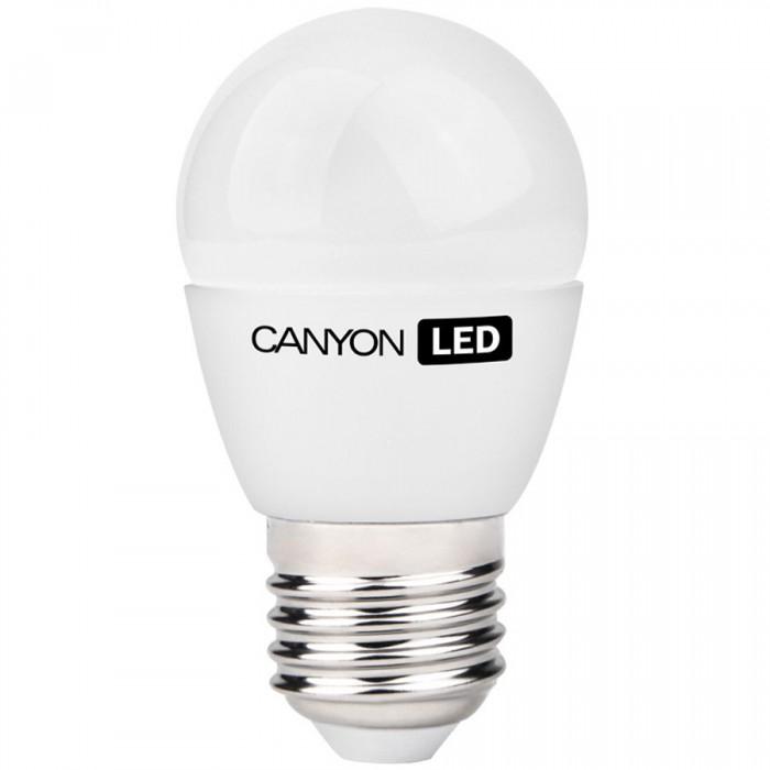 CANYON PE27FR6W230VN LED lamp, P45 shape, frosted, E27, 6W, 220-240V, 150°, 494 lm, 4000K, Ra>80, 50000 h [0]
