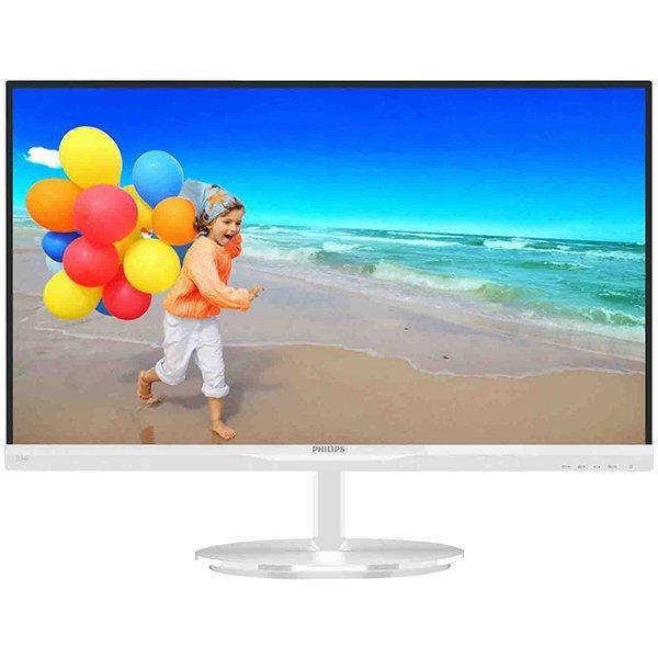 PHILIPS Monitor LED E-Line 234E5QHAW (23\'\', 16:9, 1920x1080, TFT-LCD, 250 cd/m², 20M:1, 5 ms, 178/178°, VGA/HDMI/MHL-HDMI, 2x 5W speakers) White, 2y 0