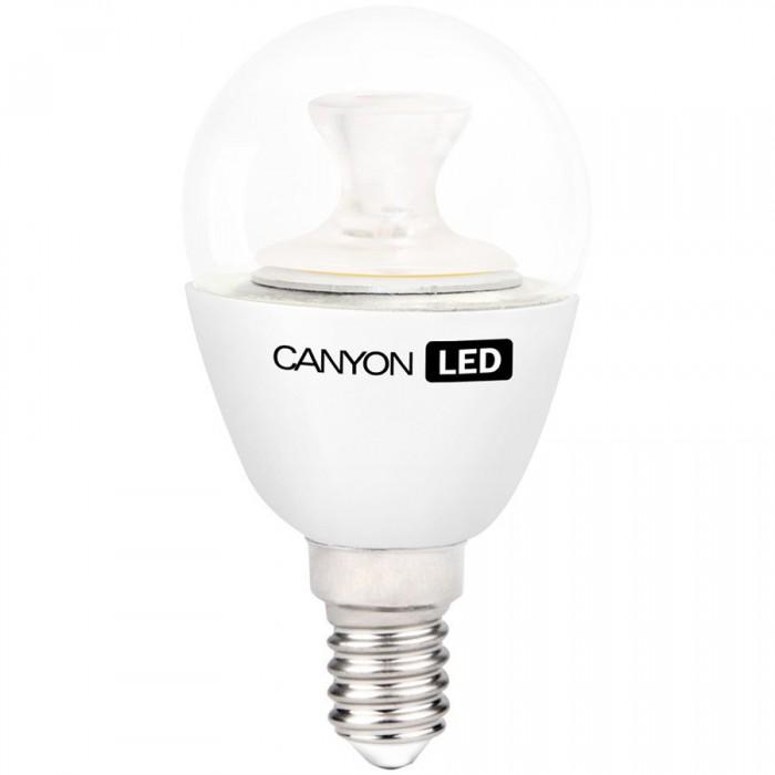 CANYON PE14CL6W230VW LED lamp, P45 shape, clear, E14, 6W, 220-240V, 150°, 470 lm, 2700K, Ra>80, 50000 h [0]
