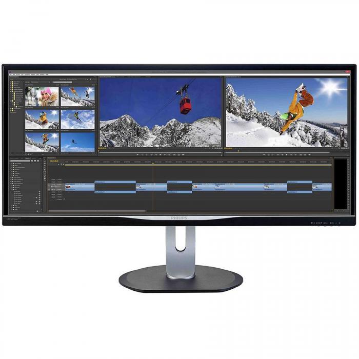 "Monitor 34"" PHILIPS BDM3470UP, IPS, WLED, 21:9, WLED, WQHD+ 3440x1440, 5ms, 320 cd/m2, 40M:1/ 1000:1, 178/178, 2*USB2.0, 2*USB 3.0, VGA, DVI ,DP, HDMI, speakers 2-3W, PIP/PBP mode ""BDM3470UP/00"" 0"