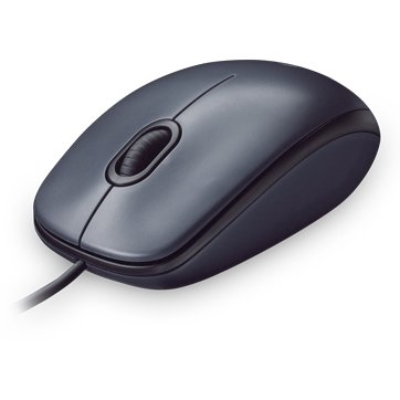 "MOUSE LOGITECH USB optic, 1000dpi, 3 butoane, 1 rotita scroll, ""M90"", gri, ""910-001793"" (include timbru verde 0.1 lei) 2"