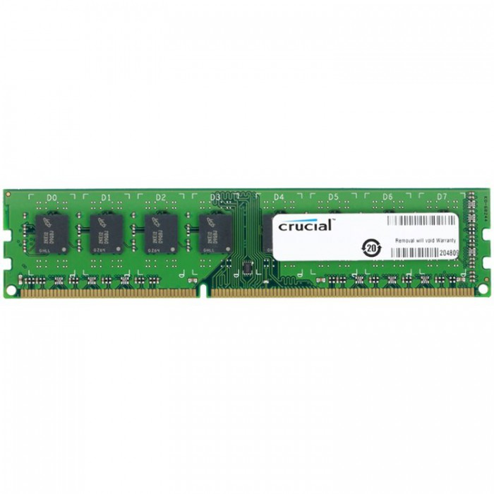 Crucial RAM 8GB DDR3L 1600 MT/s (PC3L-12800) CL11 Unbuffered UDIMM 240pin 1.35V/1.5V 0