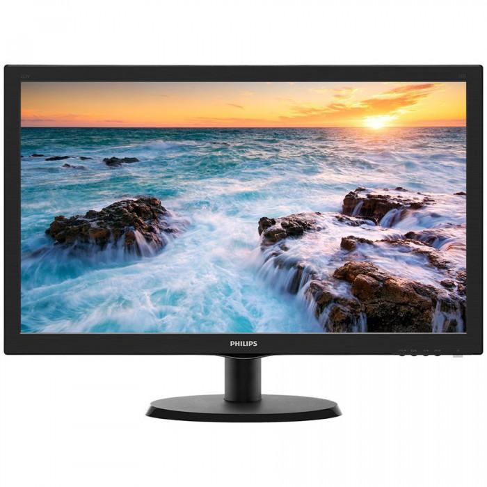 "PHILIPS 23.6""(60cm) Monitor LED 243V5LHSB/00 (23.6"", 16:9, 1920x1080, TFT-LCD, 250 cd/m², 10.000.000 : 1, 1 ms, 170/160°, VGA, DVI-D, HDMI, Black) 0"