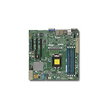 Supermicro MBD-X11SSH-F-O, Single SKT, Intel C236 PCH chipset, 8 x SATA3, 2 x GbE LAN, dedicated IPMI LAN, 3 x PCI-E3.0, mATX - Retail 0