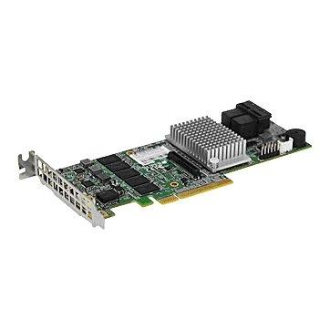 Supermicro AOC-S3108L-H8IR, 8 ports (Int), 12Gbs (SAS3), 2GB DDR3 Cache, RAID 0, 1, 5, 6, 10, 50, 60 - Low Profile 0