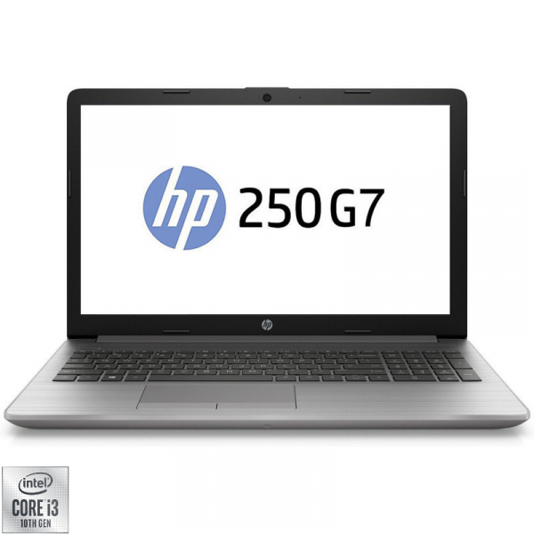 """Laptop HP 15.6"""" 250 G7, FHD, Procesor Intel® Core™ i3-1005G1 (up to 3.40 GHz), 8GB DDR4, SSD 256 GB, GMA UHD, Free DOS, Silver 0"""