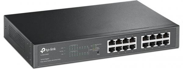 """16-Port Gigabit Easy Smart Switch with 8-Port PoE+, TP-Link """"TL-SG1016PE"""" 0"""