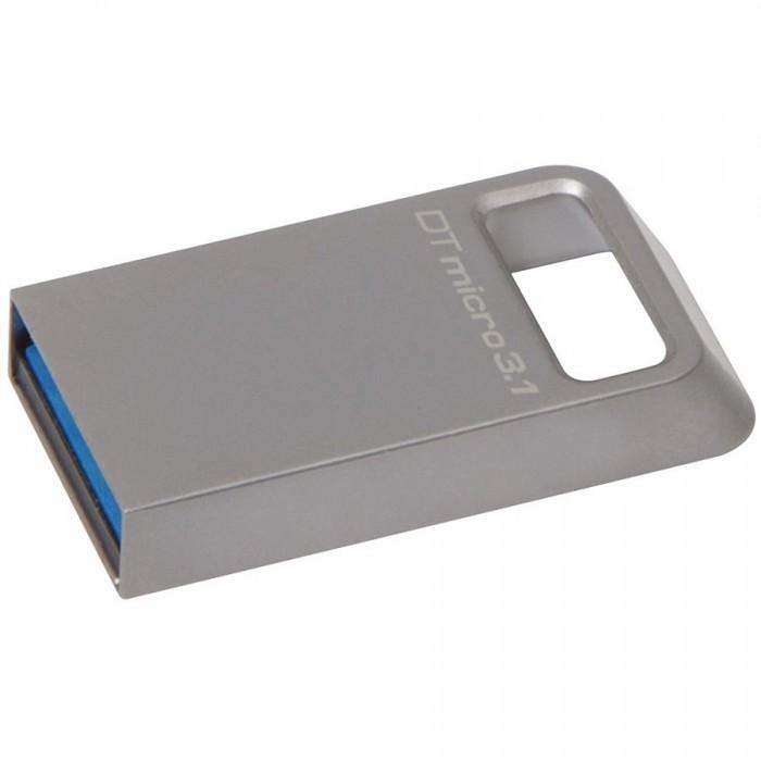 """Usb Flash Drive Kingston 128GB DataTraveler Micro 3.1, USB 3.1, 100MB/s read, 15MB/s write, metal """"DTMC3/128GB"""" 0"""