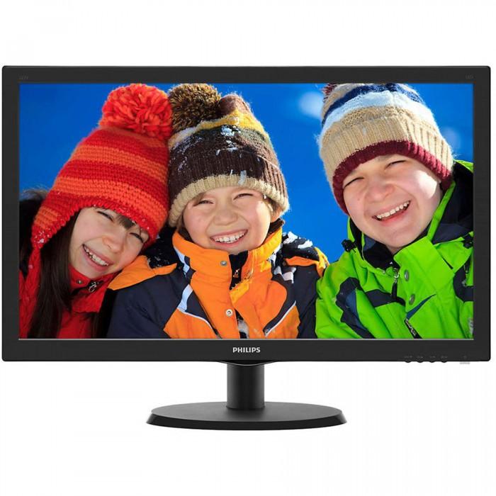 "Monitor LED PHILIPS V-Line 223V5LHSB2/00 (21.5"""", TN, 16.9, 1920x1080, 5ms, 10M:1, 200 cd/m2, VGA, HDMI, VESA) Black 0"