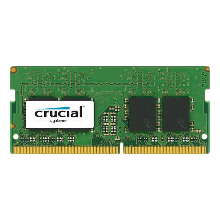 Crucial DRAM 8GB DDR4 2400 MT/s (PC4-19200) CL17 SR x8 Unbuffered SODIMM 260pin Single Ranked, EAN: 649528776334 0