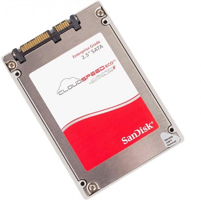 "SanDisk CloudSpeed Eco™ Gen. II 2.5"" 960GB SSD, SATA 6Gb/s, Read/Write: 530/460 MB/s, IOPS: 76K/14K, 15nm MLC, FRAME, S.M.A.R.T., Write cache immunity, Endurance 0.6 DWPD for 5 years [0]"