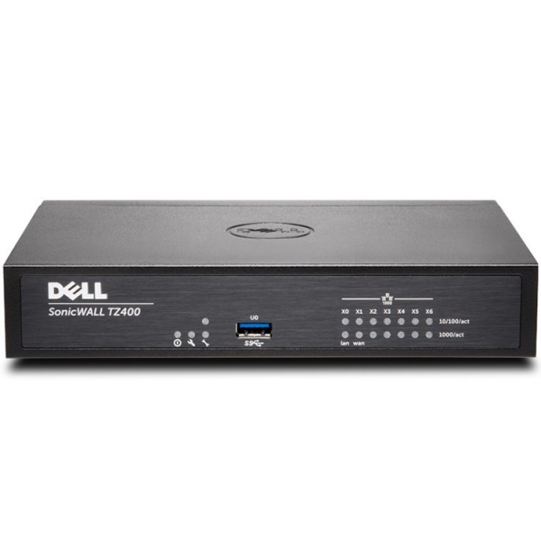 DELL SonicWALL TZ400, 4x800MHz cores, 1GB RAM, 64MB Flash,  8 x RJ45 Ports 10/100/1000, USB, VPN, VLAN 0