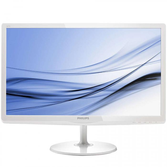 "Philips 247E6EDAW/00 (23.6"") 16:9 Full HD (1920×1080) IPS-ADS LED TFT, 5ms, 250cd/m2, speakers, D-Sub/DVI-D/MHL-HDMI, white 0"